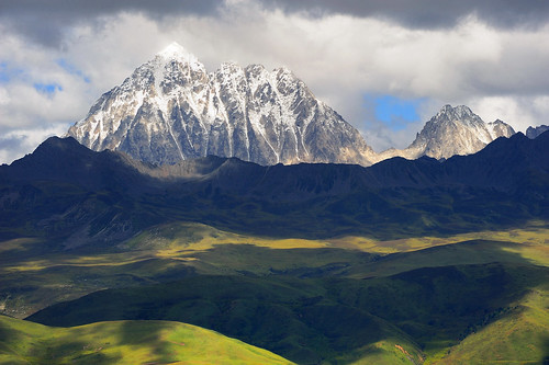 Mount Zhara Lhatse 5820m a sacred mountain in Tibet