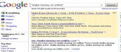 making money on the web