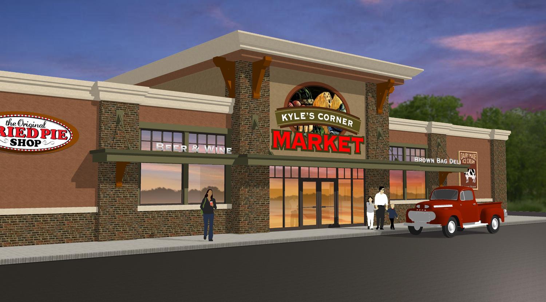 Exterior market design market upgrade grocery store for Shop exterior design