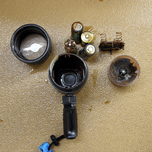 Photo:#1738 flooded dive light in pieces By Nemo's great uncle
