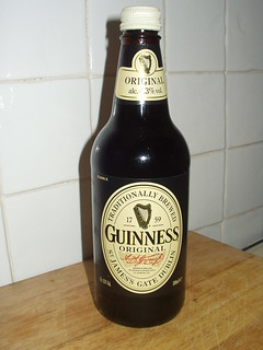 Guinness in old bottle