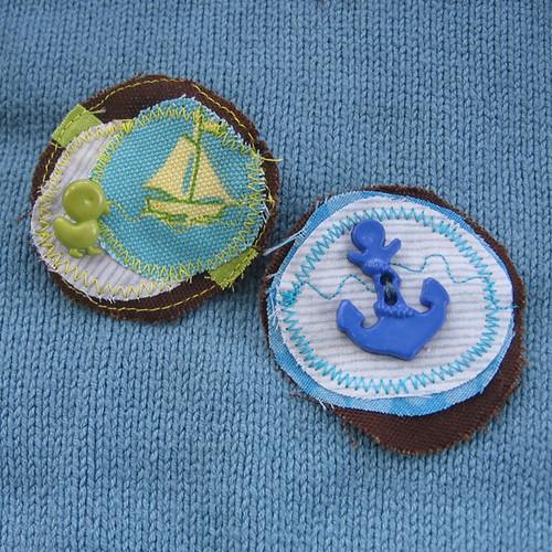Nautical Pin Pair