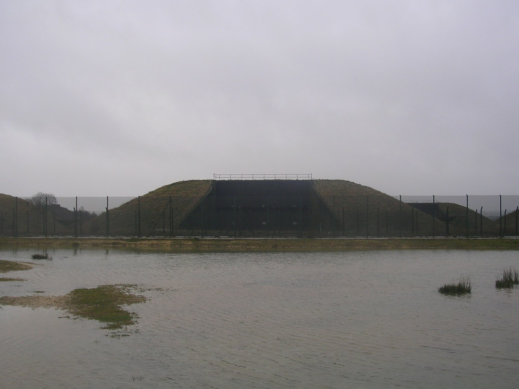 Missile silo Greenham Common Newbury Racecourse to Woolhampton