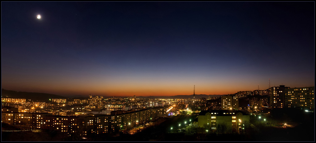 Vladivostok night panorama