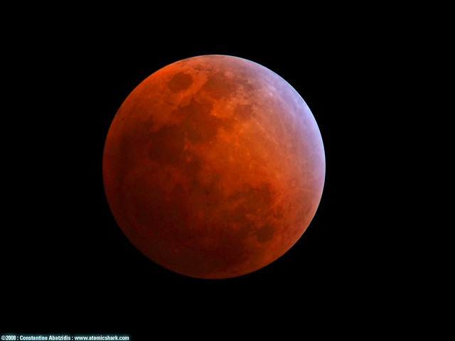 Photo:lunar eclipse feb. 20, 2008 By:atomicshark