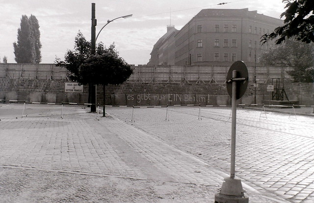 Berlin Wall at Bernauer Strasse, Berlin, 27 August 1962