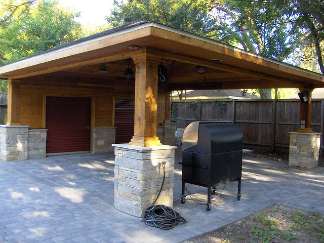 Build A Carport In Driveway : Paver driveway with carport and storage explore wood