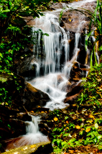 water thailand waterfall scene chiangmai