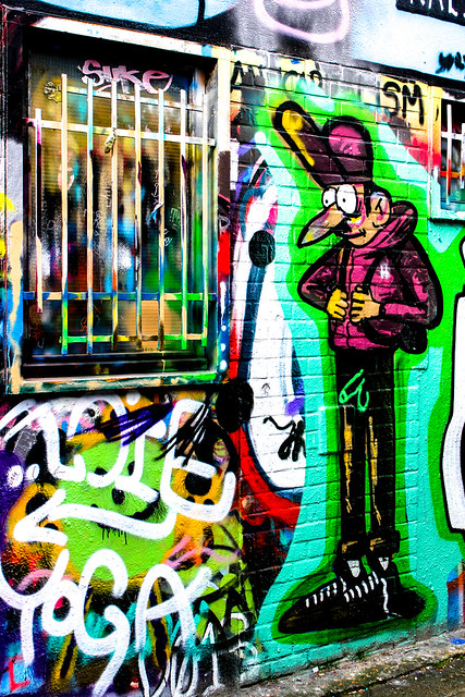 Werregarenstraat, calle de los graffiti en Gante