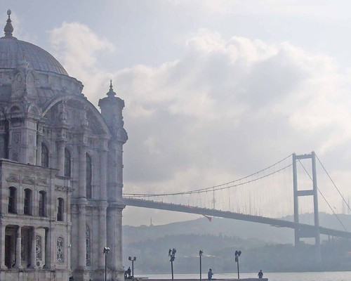 Ortakoy mosque and the marathon