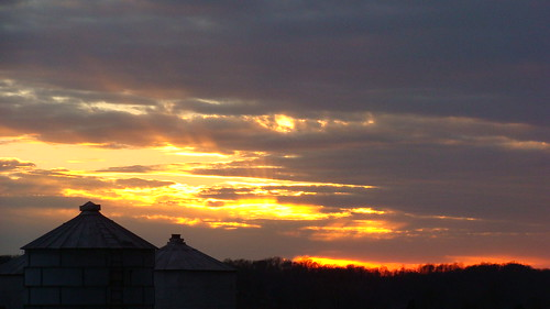 sunset beautiful farm indiana silo corydon