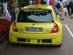 race car(0.0), racing(0.0), automobile(1.0), automotive exterior(1.0), renault clio renault sport(1.0), renault clio v6 renault sport(1.0), vehicle(1.0), subcompact car(1.0), city car(1.0), hot hatch(1.0), land vehicle(1.0),