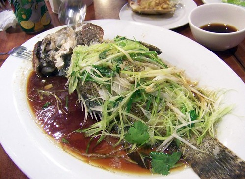 Food recipes chinese steamed fish low fat food for Chinese steamed fish recipe