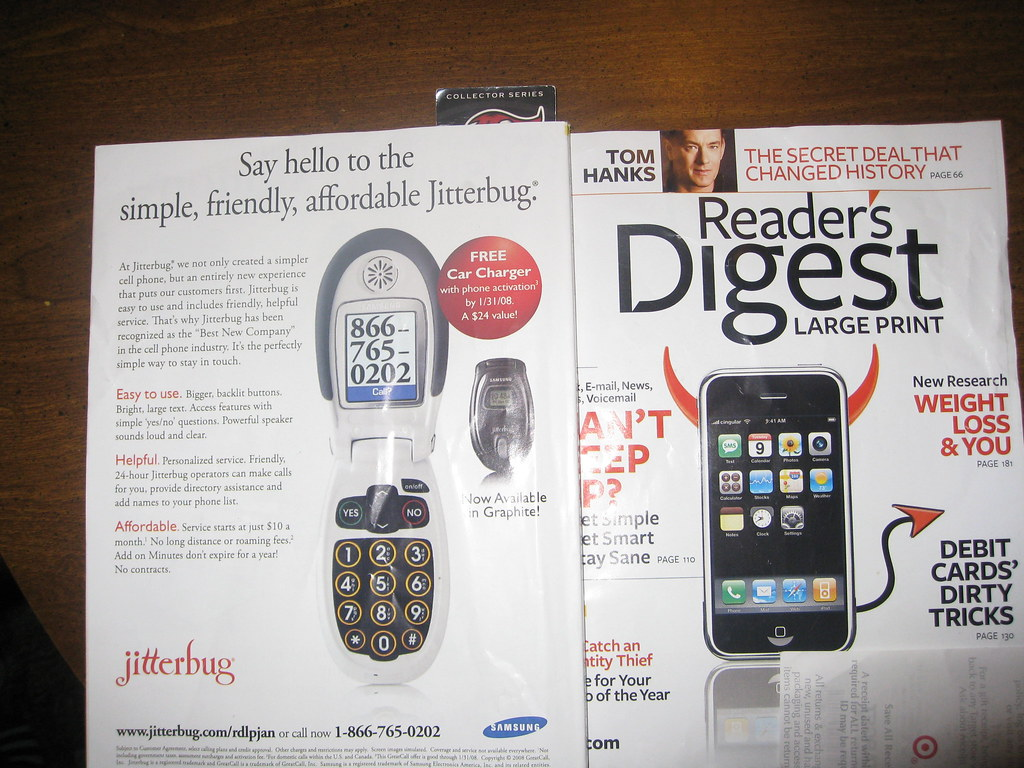 You can't make this up | Iphone on cover, jitterbug on back