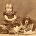 Victorian child with dog
