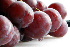 plum, damson, grape, produce, fruit, food,