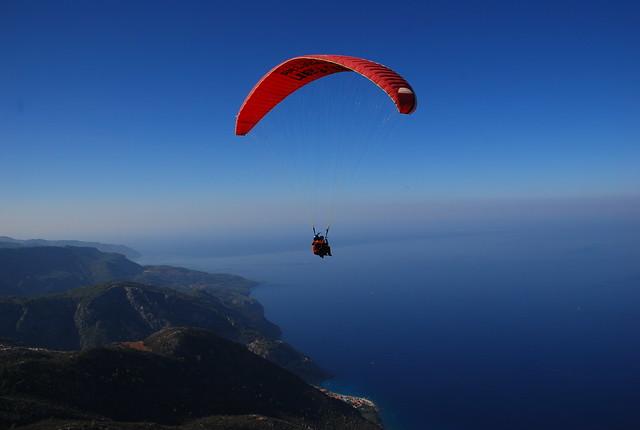 tandem paragliding over Oludeniz