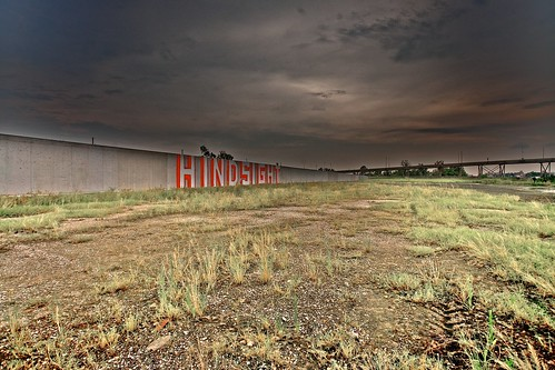 Hindsight:  9th Ward Hindsight, Levee wall  2 years later, 2007