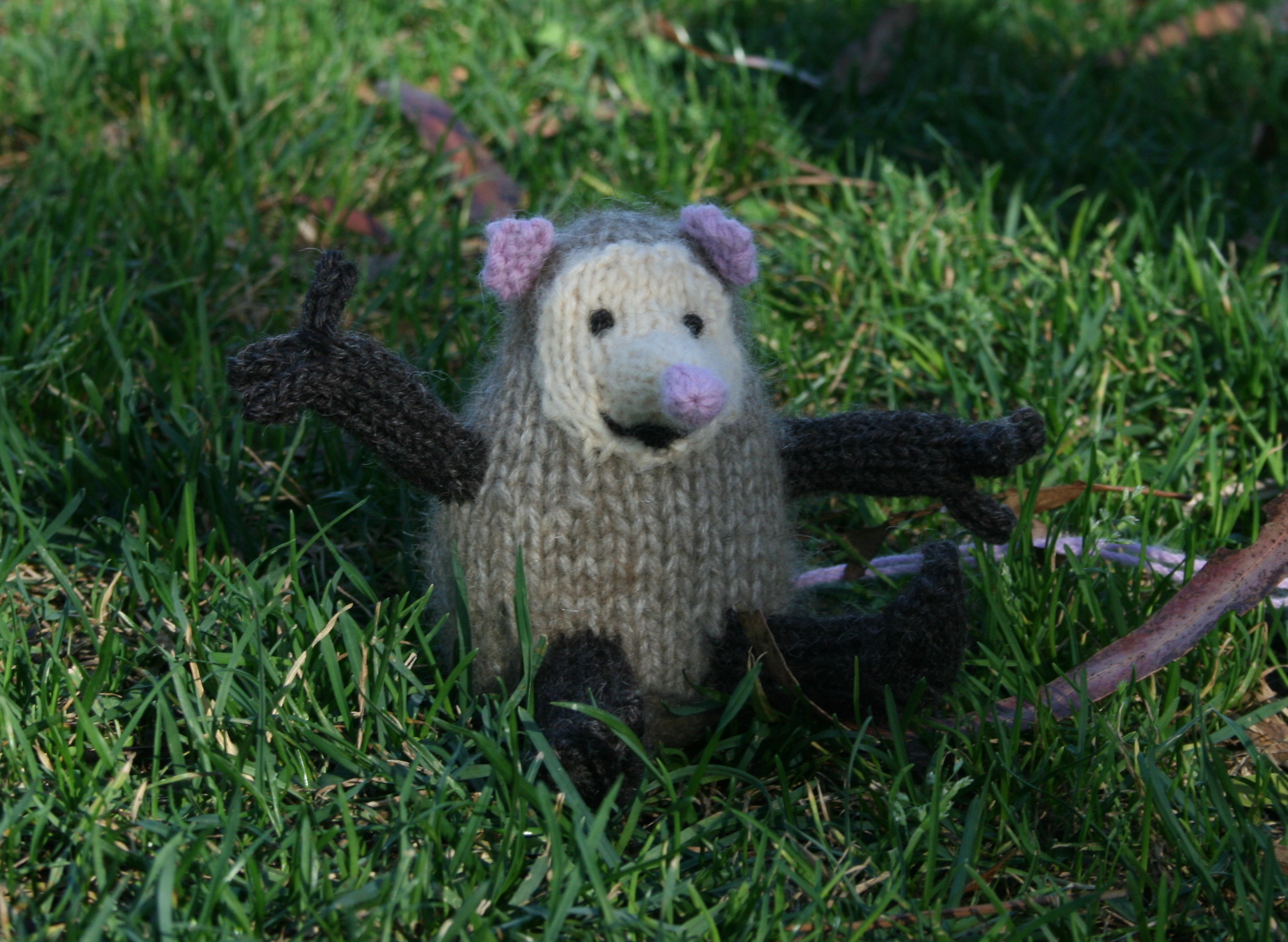Knit possum Flickr - Photo Sharing!
