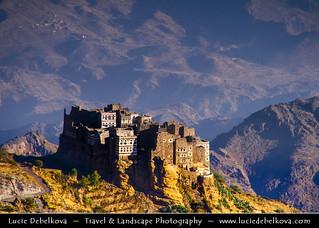 Yemen - Harraz mountains - Yemeni Rock Town at Early Morning Light