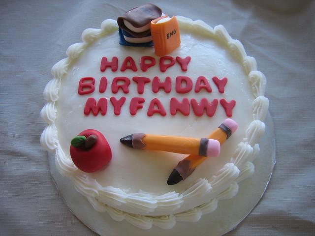 Teacher Birthday Cake - a photo on Flickriver
