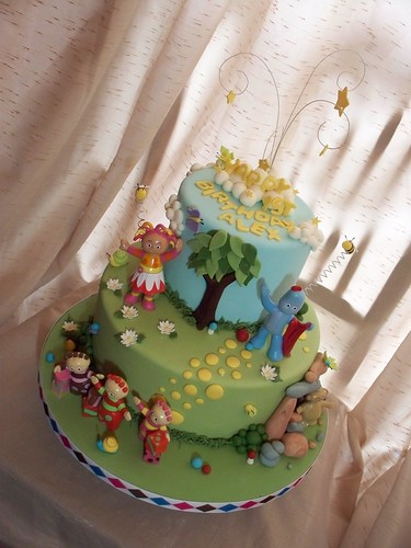 In the night garden many thanks to andrea 39 s sweetcakes for In the night garden cakes designs
