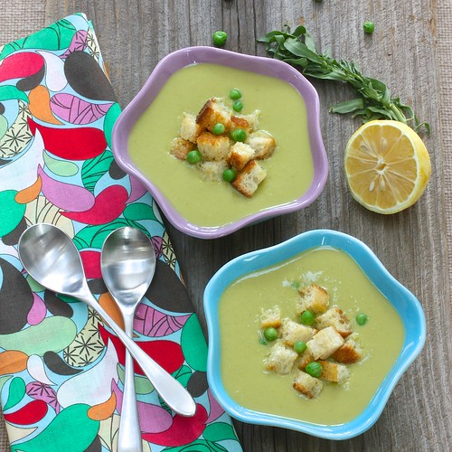 Sweet Pea Soup via MealMakeoverMoms.com/kitchen #soup #vegetables