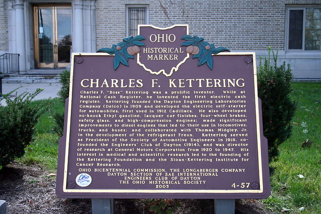 Charles Kettering receives patent for electric self-starter