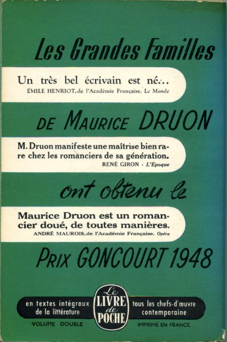 Les grandes familles by, Maurice DRUON