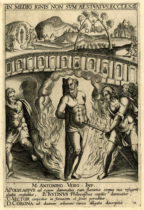 Burning of Polycarp, by Jan van Haelbeck