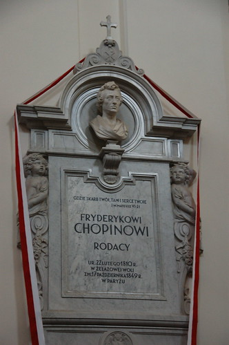 The final resting-place of Chopin's heart in the Holy Cross Church, Warsaw.