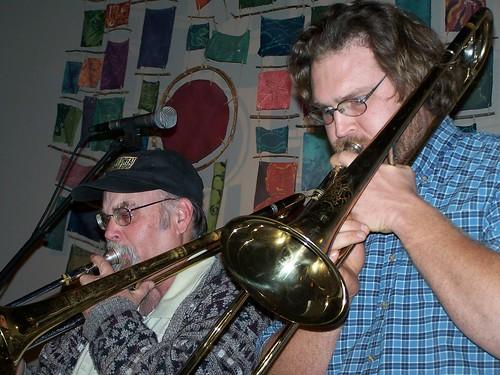 Urban Goatwalker Trombone Dudes by paynehollow