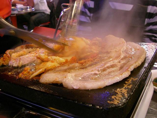 世界の肉料理 Dinner @ Han-teji-ya サムギョプサル (韓豚屋, 銀座三丁目)