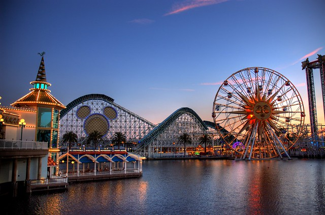 "Paradise Pier - Disneyland ""California"" at Sunset"