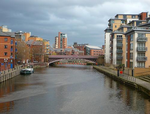 bridge river point cloudy yorkshire leeds crown aire centenary