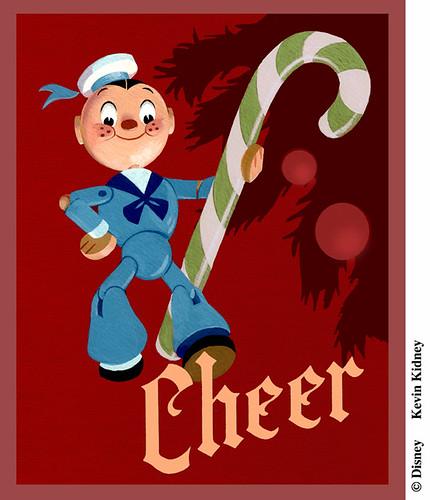 Disney Christmas Card Art - Kevin Kidney