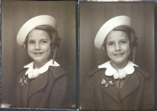 Photobooth Girl in sailor hat