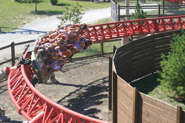 steel roller coasters are better than I'll cover the wooden roller coaster results in another post, for now here's the top ten steel coasters along with their places in last year's poll: 1 bizarro at six flags new england intamin hyper coaster (1st).