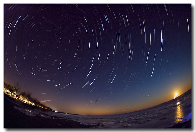 STAR TRAILS AND FISH EYE