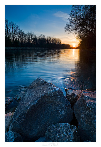 sunset river austria mur styria