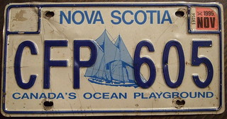 NOVA SCOTIA 1995 license plate