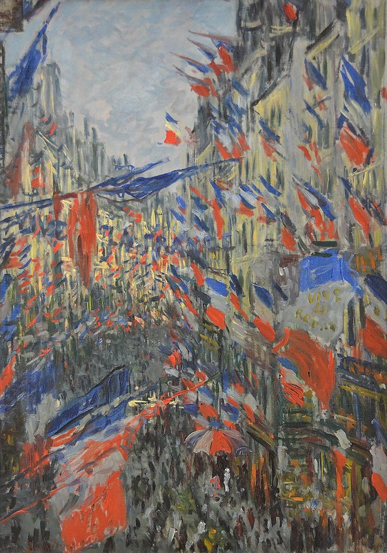 """Rouen (Seine-Maritime) - Musée des Beaux-Arts - """"Rue Saint-Denis, Fête du 30 juin 1878"""" (Claude Monet, 1840-1926)"""