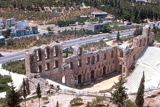 Изображение Herodes Theatre вблизи Афины. theater roman athens greece 1967 acropolis odeon atticus herodes herodus