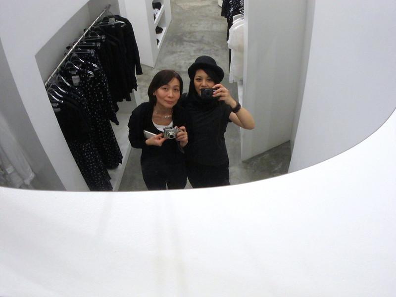 Sayoko and I at Comme des Garçons