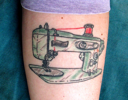 my sewing machine tattoo