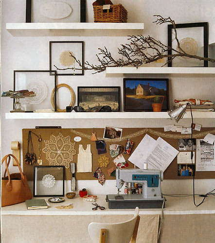 Holly Waterfield's office, via Decor8