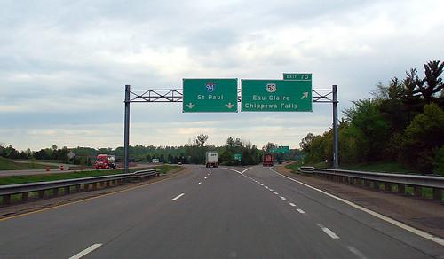 Exit to Chippewa Falls, 16 May 2006