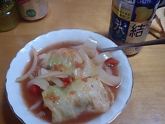 ロールキャベツスープ。