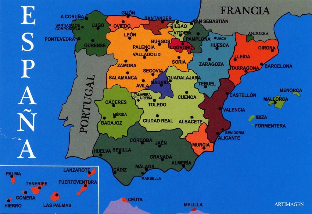 Teruel Spain Map.Spain Map Card 4 For Trade Jordi Miralles Flickr