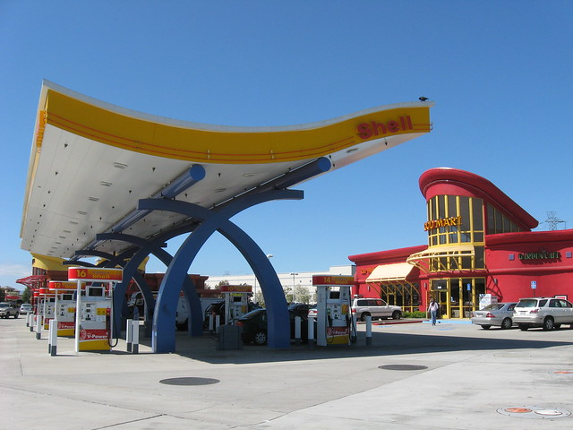 Googie Shell Gas Station Fremont,CA